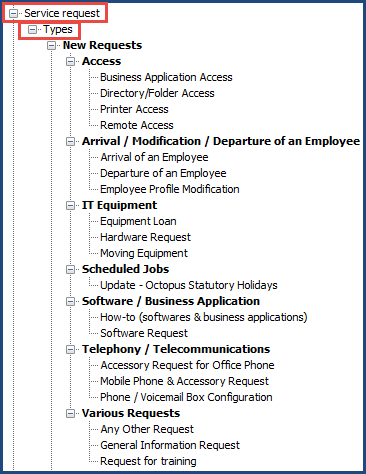 service request template excel