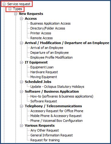 Basic Configuration Service Requests Doc Octopus